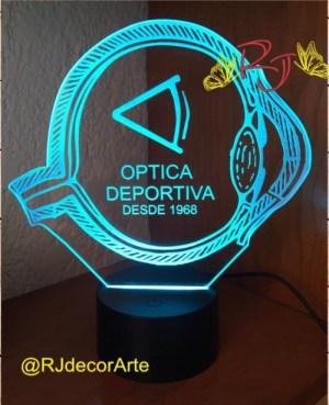 lampara led personalizada oculista