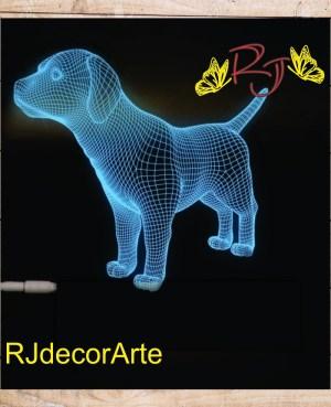 lampara led 3D Labrador