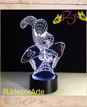 lampara led spider man2