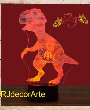 Lampara led t-rex 3d