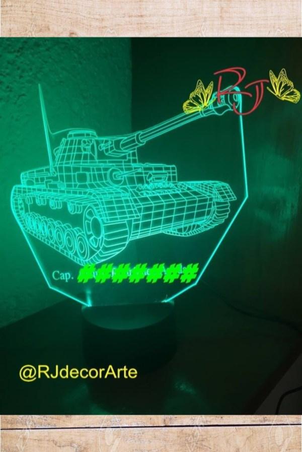 lampara led personalizada tanque