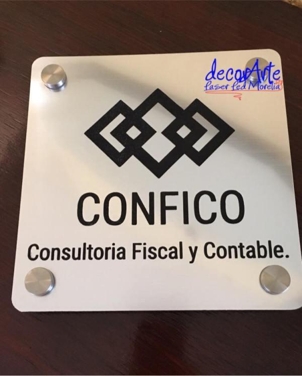 Placa personalizada Señaletica