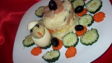 Photo of وصفة سهلة سلطة الطبقات بالجمبري و البيض
