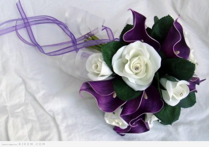 مسكات زهور للعروس