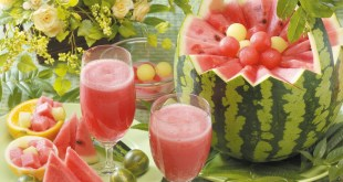 شراب البطيخ الأحمر منعدم الدسم