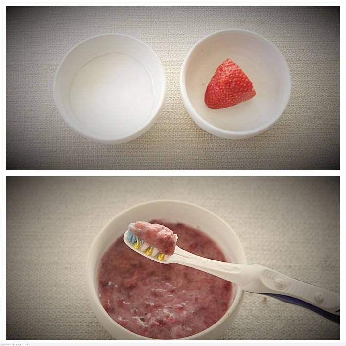 وصفة الفراولة لتبييض الأسنان