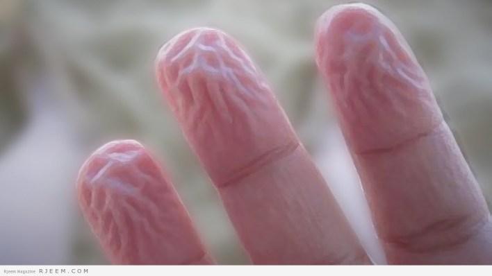 تجعّد الأصابع تحت الماء