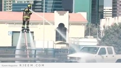Photo of شاهد: بطريقة هي الاولى من نوعها في العالم.. هكذا تمكن الدفاع المدني بدبي من إطفاء حريق سيارة