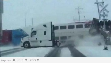 Photo of شاهد: قطارٌ يشطر شاحنةً إلى نصفين بولاية يوتا الأمريكية