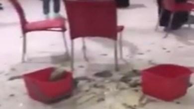 Photo of فيديو: سقوط قطعة من ديكور سقف مجمع الظهران.. ومدني الخبر يكشف السبب