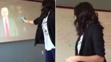 Photo of فيديو: وقف مدرسة أميركية عن العمل بعد تهديدها لترامب بـ مسدس ماء!