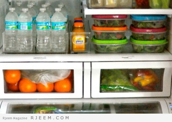 طريقة ترتيب الاغراض في الثلاجة ذات الحجم الصغير