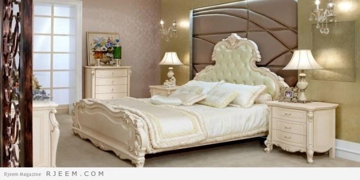 غرف نوم باللون الابيض تركي