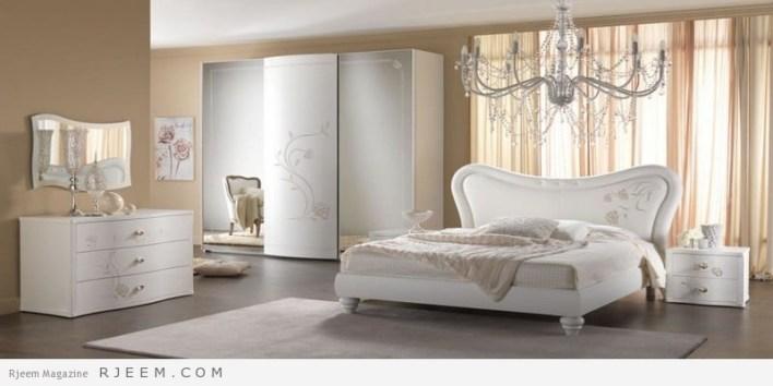 غرف نوم باللون الابيض كاملة