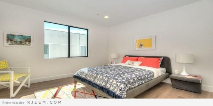 غرف نوم مودرن ملونة