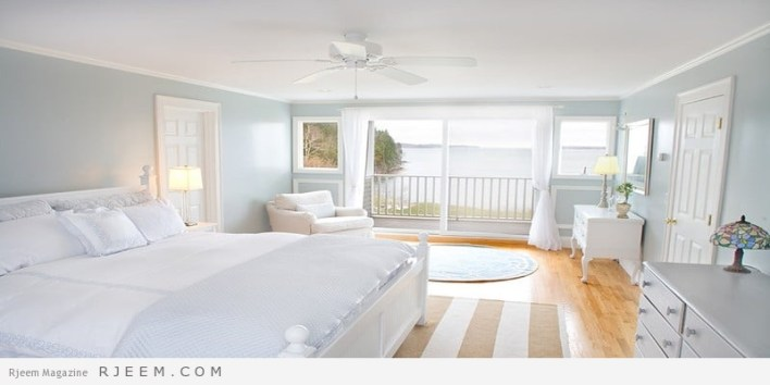 غرف نوم باللون الابيض كالفنادق