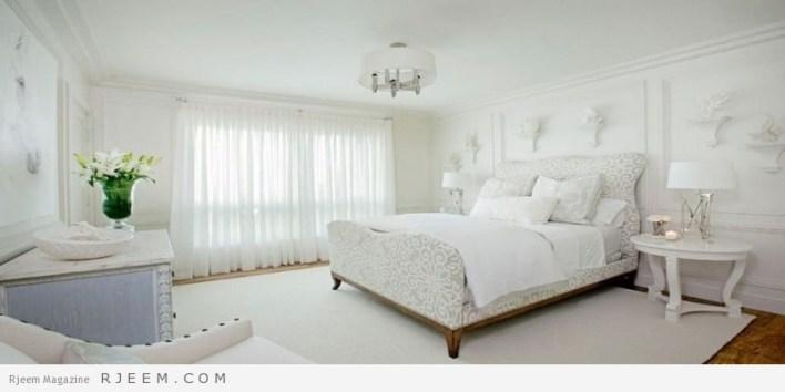 غرف نوم باللون الابيض روعة