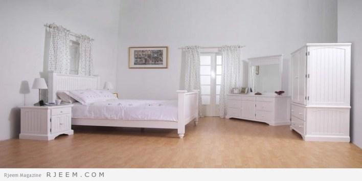 غرف نوم باللون الابيض بسيطة