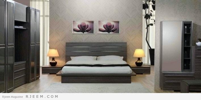 احدث غرف نوم عرسان كاملة بالوان جميلة