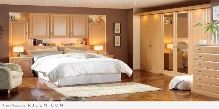 احدث غرف نوم عرسان كاملة خشب