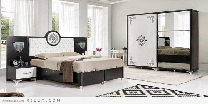 احدث غرف نوم عرسان كاملة بيضاء