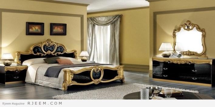 غرف نوم كلاسيك اسود