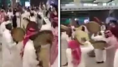 Photo of فيديو: فرقة شعبية ترقص على إيقاعات الدفوف في مطار الملك خالد بالرياض.. وهكذا تفاعل معهم المسافرين