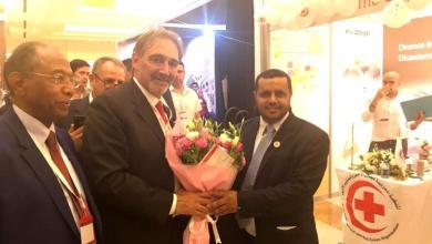 """Photo of """"السحيباني"""" يلتقي رئيس الاتحاد الدولي للصليب الأحمر"""