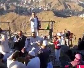 Photo of فيديو.. أشخاص يمارسون طقوساً غريبة أعلى جبل غار حراء بمكة المكرمة