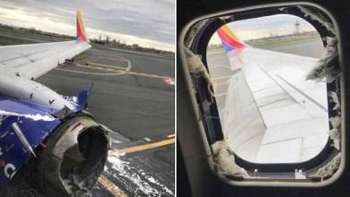 Photo of مقتل راكب بانفجار محرك طائرة بعد إقلاعها من نيويورك