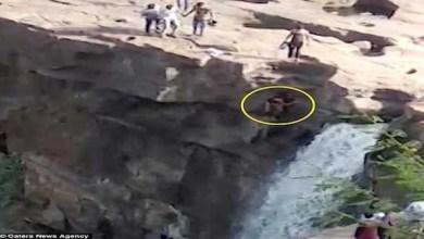 Photo of بالفيديو: يسقط من ارتفاع 50 متراً في الشلال خلال التقاط سيلفي