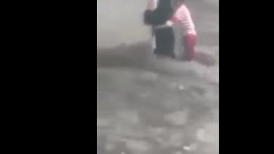 Photo of بالفيديو.. شاب شجاع ينقذ امرأة يمنية من الغرق في السيول