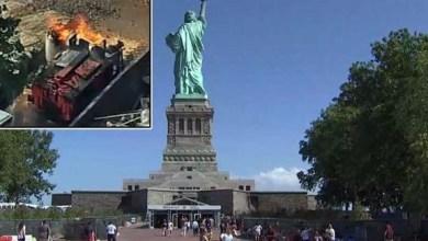 Photo of أمريكا: إجلاء آلاف الزوار من جزيرة تمثال الحرية إثر حريق