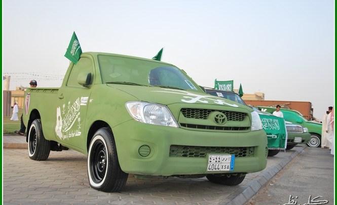 Photo of صور زينة سيارات لليوم الوطني 88 , اشكال سيارات مزينة لليوم الوطني السعودي , افضل زينة للسيارة باليوم الوطني السعودي