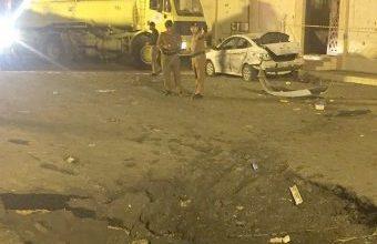 Photo of صور سقوط شظايا صاروخ حوثي في نجران و 26 مصاباً بينهم طفلان