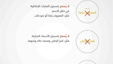 Photo of هذه هي الاسماء التي لا يسمح بها في الاحوال المدنية السعودية