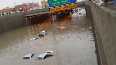 "Photo of ""المرور"": فتح جميع المحاور والأنفاق بالرياض بعد خلوها من مياه الأمطار"