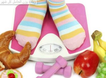 زيادة وزن الحامل في كل شهر