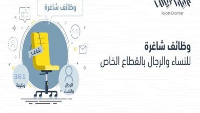 Photo of غرفة الرياض تطرح 361 وظيفة شاغرة للجنسين بالقطاع الخاص