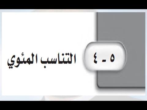 Photo of حل درس التناسب المئوي للصف الاول متوسط