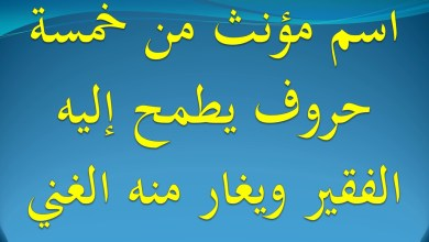 Photo of لغز اسم مؤنث من 5 حروف يطمح اليه الفقير