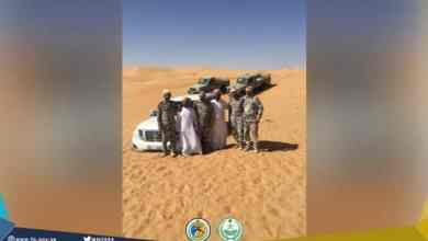 "Photo of ""حرس الحدود"" ينقذ مواطنين إماراتيين تعطلت سيارتهما بالربع الخالي"