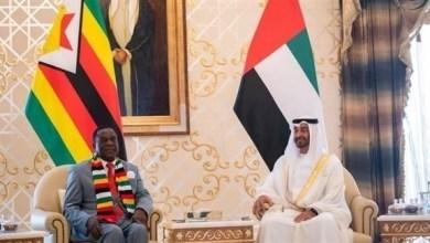 Photo of محمد بن زايد يبحث مع رئيس زيمبابوي تعزيز علاقات التعاون