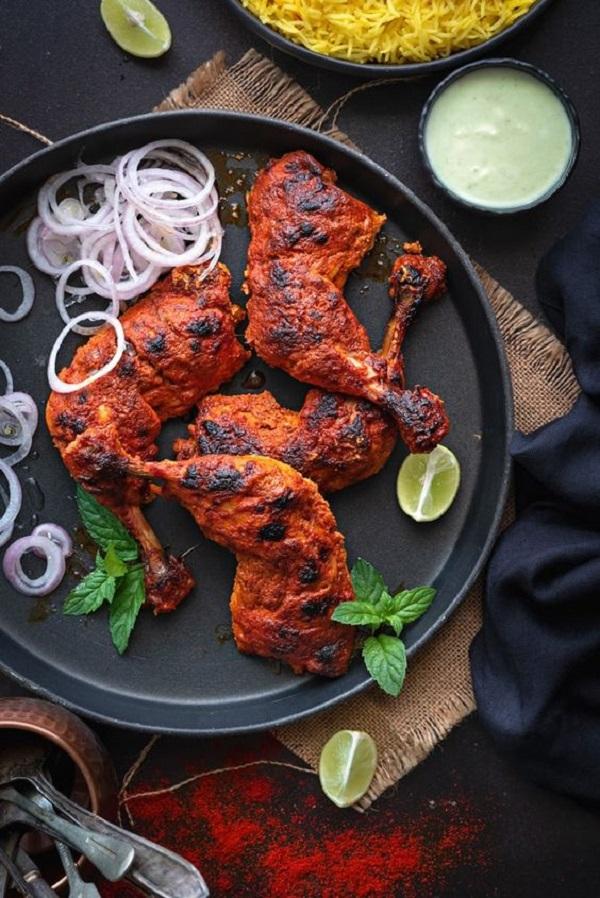 طريقة طبخ الدجاج التندوري