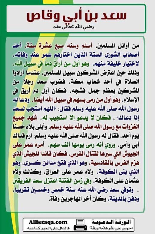 الاسد في براثنه مسقط دولة الفرس سعد بن ابي وقاص