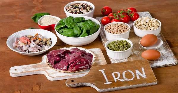 عناصر غذائية غنية بالحديد