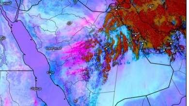 Photo of المسند: عاصفة غبارية تتّجه ناحية الرياض