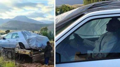 """Photo of سر دفن """"زعيم أفريقي"""" بسيارته المرسيدس!"""