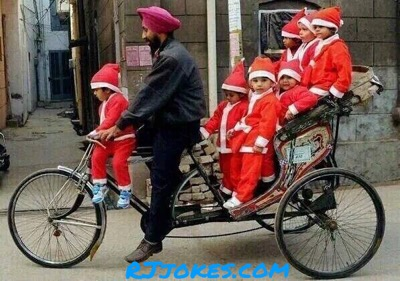 5 Best Indian style Santa Claus Funny Pictures