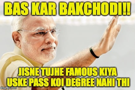 kejriwal and modi jokes on Modi's degree